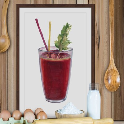 'Bloody Mary' Framed Painting Print Size: 18