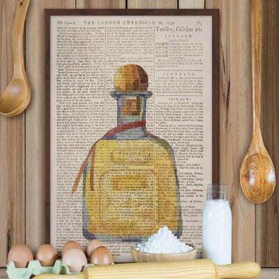 """'Golden Tequila' Framed Watercolor Painting Print Size: 30"""" H x 20"""" W x 1.5"""" D LRUN2365 39141401"""