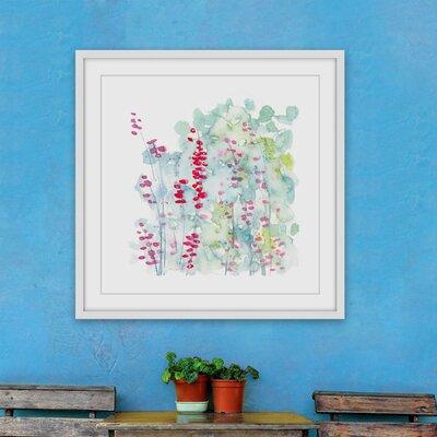'Winter Berries' Framed Acrylic Painting Print on Paper