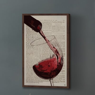 'A Cup of Burgundy' Framed Painting Print Size: 18
