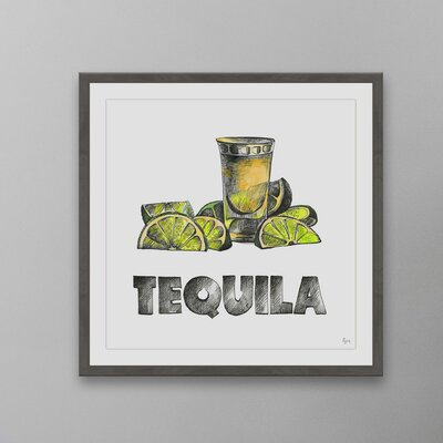 'Tequila Surprise' Framed Drawing Print Size: 12