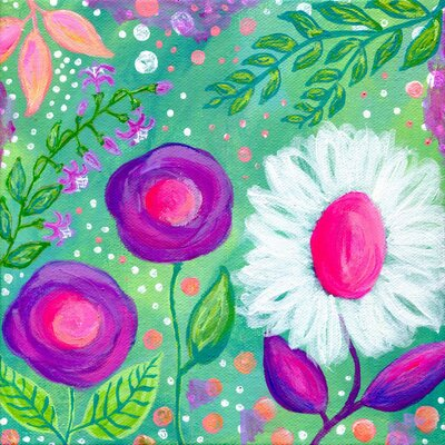 'Flowers for Lydia' Painting Print on Wrapped Canvas Size: 18