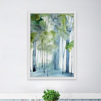 'New Growth' by Christine Lindstrorm Framed Watercolor Painting Print Size: 18