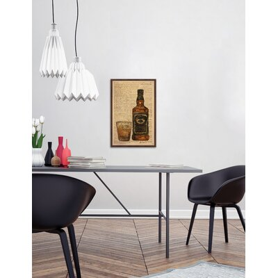 "'Black Label Bourbon' Framed Graphic Art Print Size: 18"" H x 12"" W x 1.5"" D STSS1235 38841162"