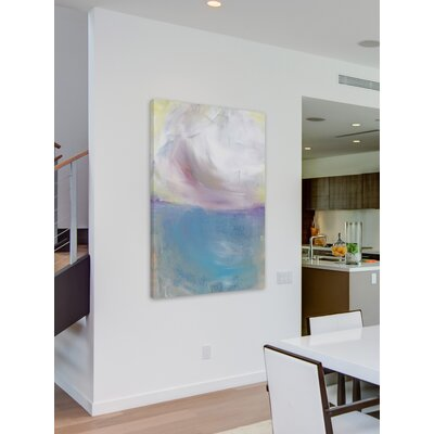 'Summer Clouds' Watercolor Painting Print on Wrapped Canvas Size: 18