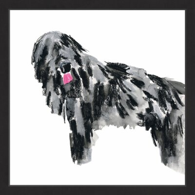 'Shaggy' Framed Watercolor Painting Print Size: 12