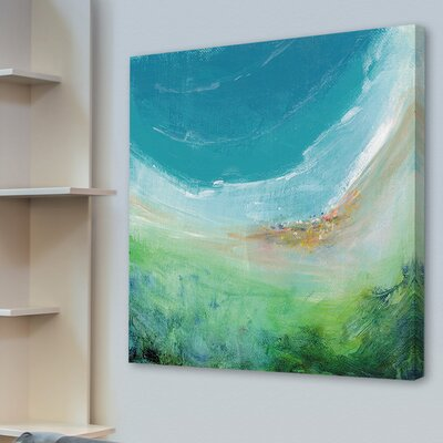'Seaside' Oil Painting Print on Wrapped Canvas Size: 18