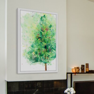 'Turning Spring' Framed Watercolor Painting Print Size: 18