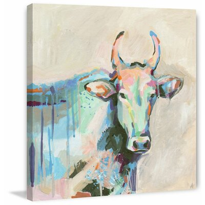 'Mystical Bull' Acrylic Painting Print on Wrapped Canvas Size: 18