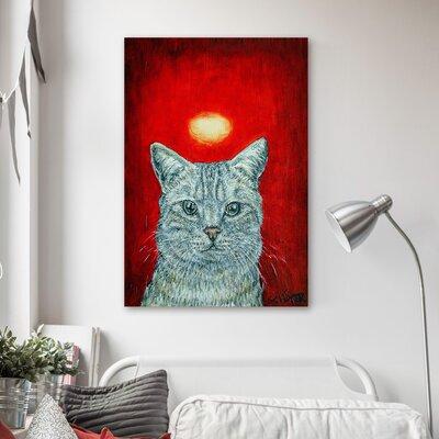 'European Shorthair Cat Angel' Oil Painting Print on Canvas Size: 18