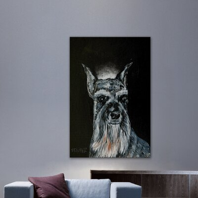 'Schnauzer Angel' Painting Print on Wrapped Canvas Size: 18