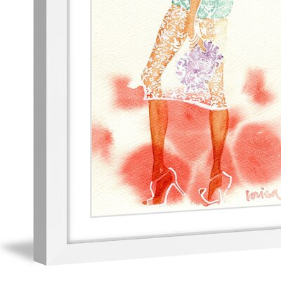 'Summer Breeze' Framed Watercolor Painting Print Size: 45