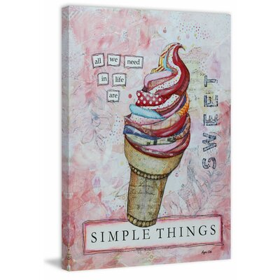 'Simple Things' Painting Print on Wrapped Canvas Size: 18