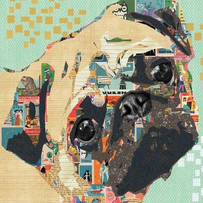 'Le Regard Noir' Graphic Art Print on Canvas Size: 18