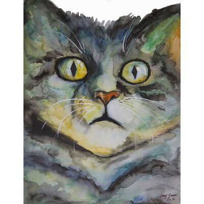 'Surprised' Watercolor Painting Print on Wrapped Canvas Size: 31