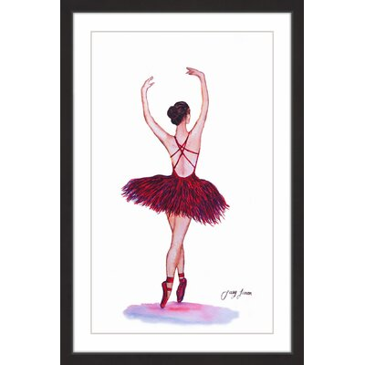 'On Point II' Framed Watercolor Painting Print Size: 18