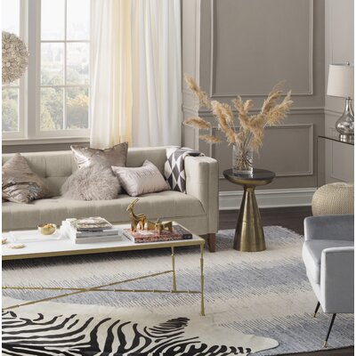Lotie Hand-Woven Gray Area Rug Rug Size: Rectangle 4 x 6
