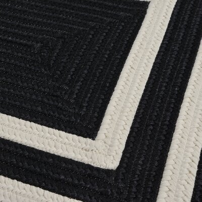 Marti Hand-Woven Outdoor Black Area Rug Rug Size: Square 4'