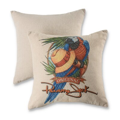 Parrot Hat Cotton Throw Pillow