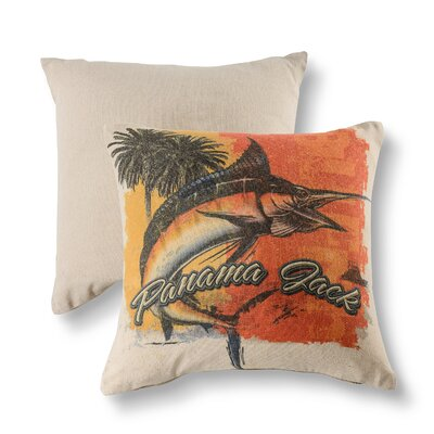 Marlin Orange Cotton Throw Pillow