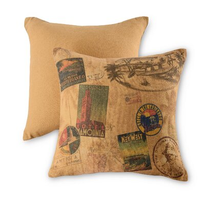 Vintage Travel Cotton Throw Pillow