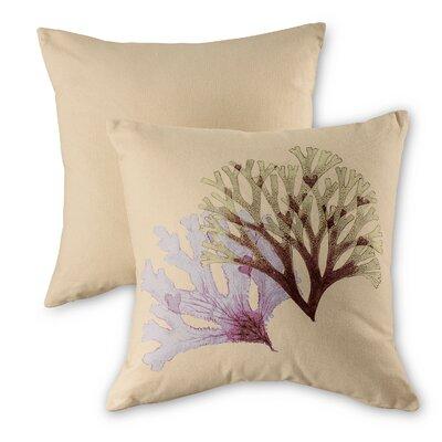 Seaweed Natural Cotton Throw Pillow