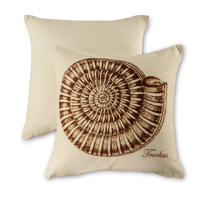 Trochus Natural Cotton Throw Pillow