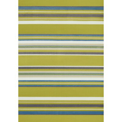 Island Breeze Windward Lime Area Rug Rug Size: 53 x 72