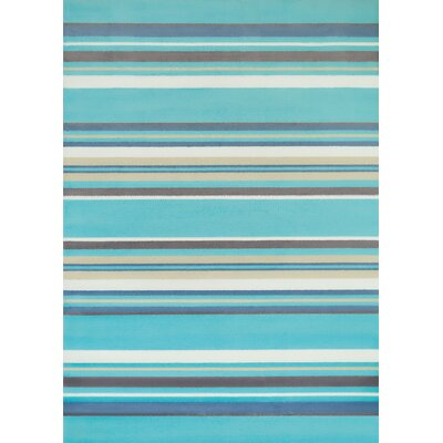 Island Breeze Windward Aqua Area Rug Rug Size: 53 x 72