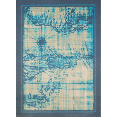 Island Breeze Explorer Aqua Area Rug Rug Size: Rectangle 53 x 72