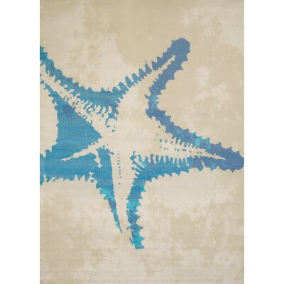 Island Breeze Sea Life Natural Area Rug Rug Size: 53 x 72