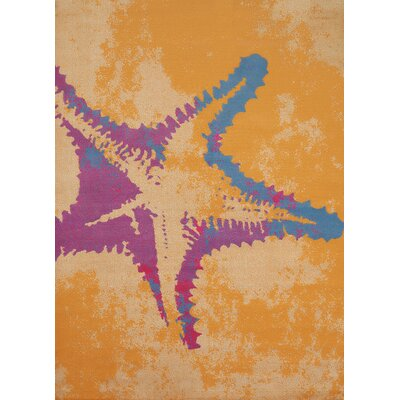 Island Breeze Star Fish Peach Area Rug Rug Size: 5'3