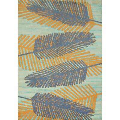 Island Breeze Breezy Days Blue/Orange Area Rug Rug Size: 53 x 72