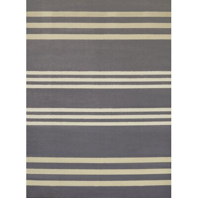Island Breeze Trades Charcoal Area Rug Rug Size: Rectangle 53 x 72