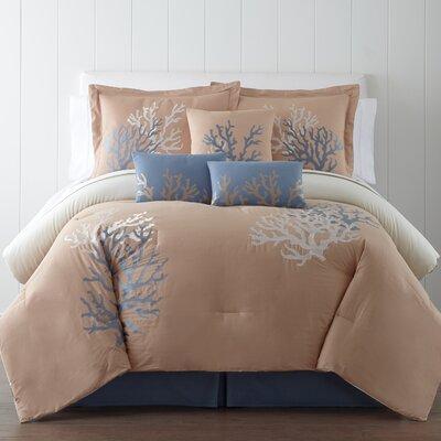 Coral Seas 7 Piece Comforter Set Size: King