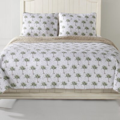 Palm Tree Quilt Set Size: Full/Queen