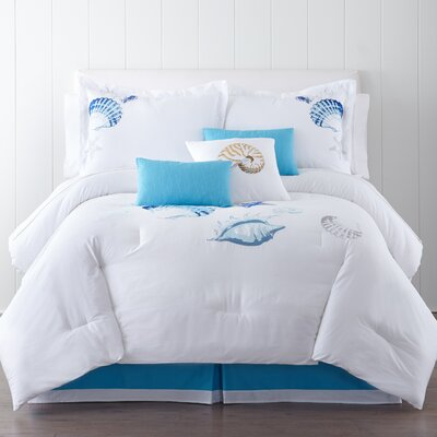 Ocean Shells 7 Piece Comforter Set Size: King