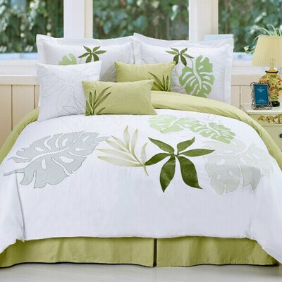 Lagoon 7 Piece Comforter Set Size: King