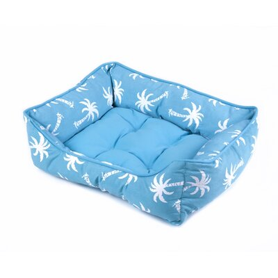 Pet Bed Color: Aqua, Size: 22 W x 28 D