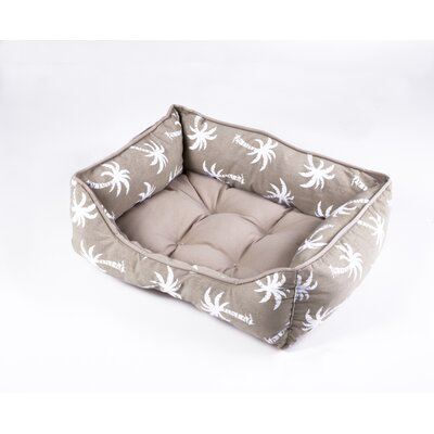 Pet Bed Color: Sand, Size: 22 W x 28 D