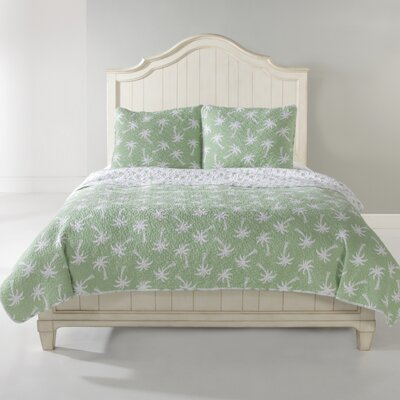 Palm Beach Quilt Set Size: Full/Queen, Color: Green