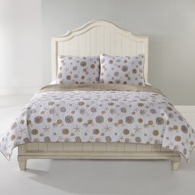 Sand Dollar Quilt Set Size: Full/Queen, Color: Sand