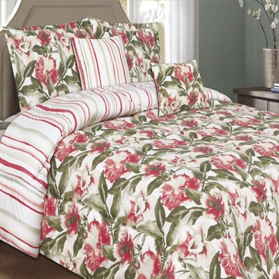 Orchid Grace 5 Piece Comforter Set Size: King