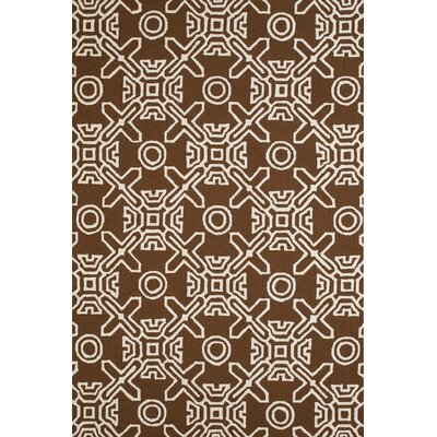 Maui Hand-Woven Chocolate Indoor/Outdoor Area Rug Rug Size: 111 x 3
