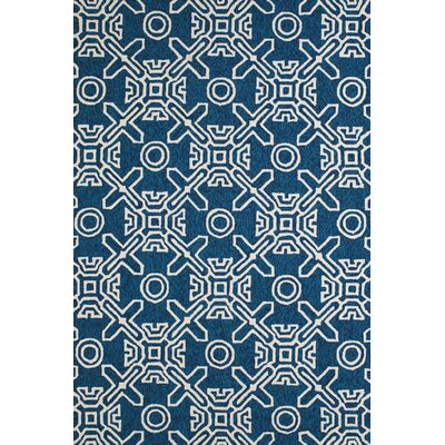 Maui Hand-Woven Cyan Indoor/Outdoor Area Rug Rug Size: 111 x 3