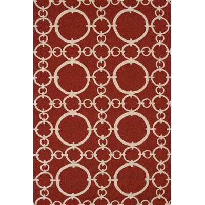 Chainweaver Hand-Woven Cherrystone Red Indoor/Outdoor Area Rug Rug Size: 111 x 3
