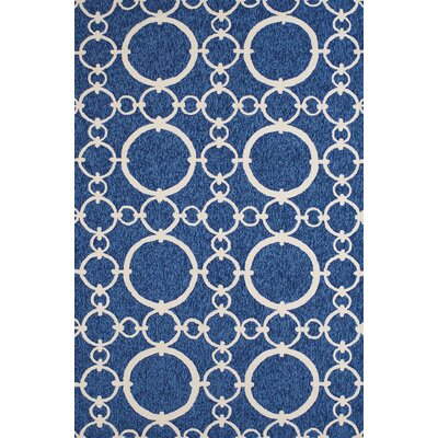 Chainweaver Hand-Woven Blue Indoor/Outdoor Area Rug Rug Size: 5 x 76