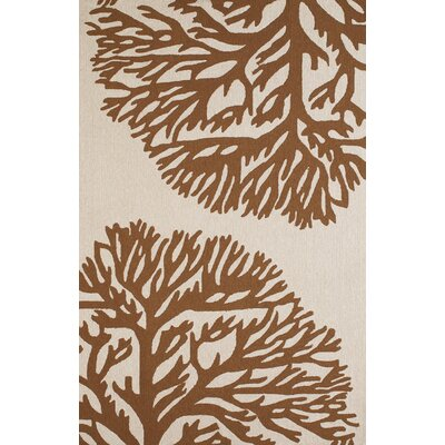 Coral Gables Hand-Woven Chocolate/Beige Indoor/Outdoor Area Rug Rug Size: 111 x 3