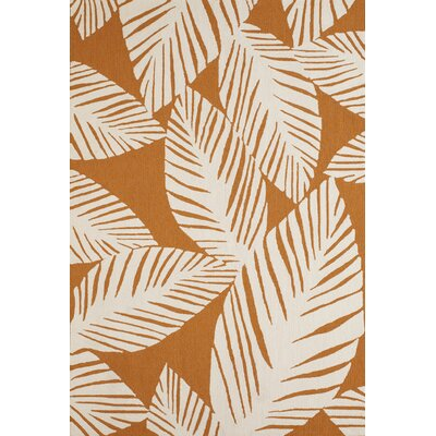 Palm Coast Hand-Woven Spice Indoor/Outdoor Area Rug Rug Size: 5 x 76