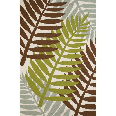 Sunbelt Hand-Woven Lime/Brown Indoor/Outdoor Area Rug Rug Size: 5 x 76